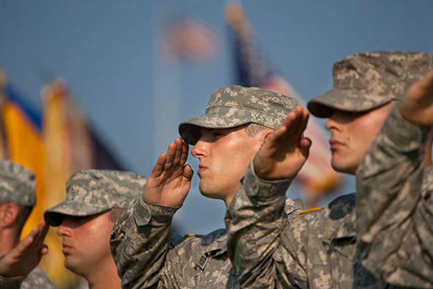 Cadets in salute